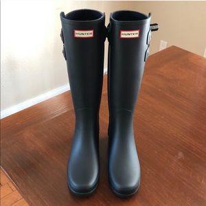 Hunter Refined Matte Black Boots